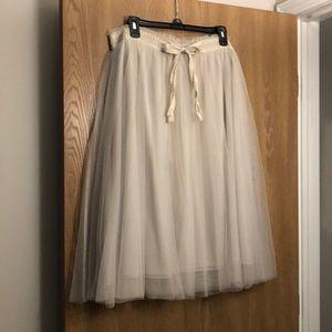 Lauren Conrad Nude Tulle Skirt